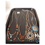 NATIVE AMERICAN SOUTHWEST NECKLACES, BEADED