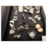 LARGE GROUP OF EARRINGS MOSTLY CLIP ON EARRINGS