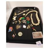 ASSORTMENT OF JEWELRY AND PINS