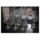 9 PEDESTAL WATER GLASSES