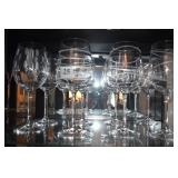 FROSTED SWIRL ETCHED 9 WINE GLASSES