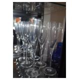 6 CLEAR CHAMPAGNE GLASSES
