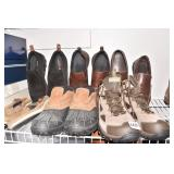 5 PAIRS 3 LOAFERS, 1 HIKING BOOTS, 1 HIGH BOOTS