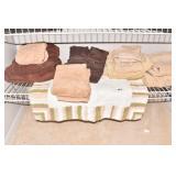 TOWELS, TAN BROWN AND SOFT BATHMAT