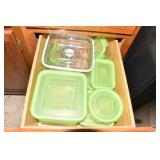 SNAP ON FOOD STORAGE CONTAINERS, PLASTIC WRAP,