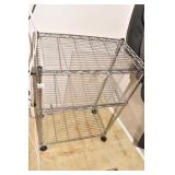THREE TIER STAINLESS STEEL STAND