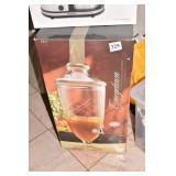 CUT GLASS BEVERAGE DISPENSER IN BOX
