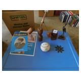 BASEBALL, DECORATIVE PC. WITH SWAYING FIGURE AND