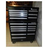 CRAFTSMAN TWO SECTION ROLLING TOOL BOX WITH LOCKS