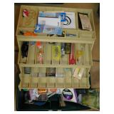 FISHING TACKLE BOX WITH CONTENTS