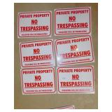 6 METAL NO TRESPASSING SIGNS NEW