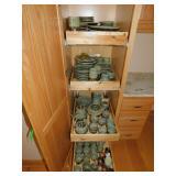 UNUSUAL JAPAN MASSIVE SET OF DISHES INCLUDING TEA