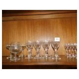 ASSORTED GLASSWARE WINEGLASSES AND OTHER 23 TOTAL
