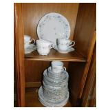 BAVARIA GERMANY CHINA SET WITH FLORAL DESIGN