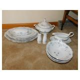 BAVARIA GERMANY CHINA 4 PLATTERS, COVERED BUTTER,