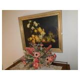 LENNOX BOWL WITH FLOWERS AND FRUIT PICTURE AND