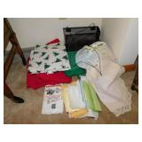 ASSORTED TABLECLOTHS AND HOLIDAY PAPER NAPKINS