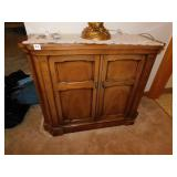 """WOODEN ENTRY STAND GOOD CONDITION 30""""H X36""""W"""