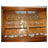 LARGE COLLECTION OF ASSORTED GLASS WARE,