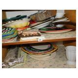 RAVIOLI MAKER, ASSORTED PLATES, SERVING BOWLS,