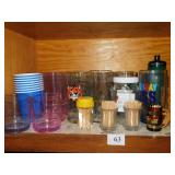 ASSORTED TUPPERWARE GLASSES LIKE NEW AND OTHER