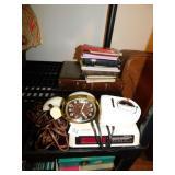 ALARM CLOCKS AND BOOKS INCLUDING BIBLES