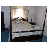 QUEEN SIZE BED HEADBOARD FOOTBOARD AND SIDE RAIL