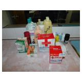 FIRST AID PRODUCTS, TAPE, MOISTURIZING CREAMS,