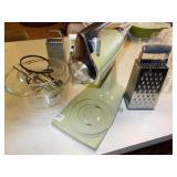 CHEESE GRATERS, MIXMASTER WITH TWO MIXING BOWLS