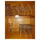 GROUP OF DRINKING GLASSES, MILKSHAKE GLASS