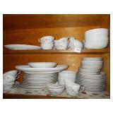 MIKASA CHINA SET 11 DINNER PLATES, SERVING TRAY,