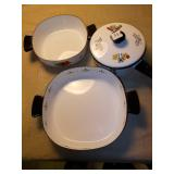 DECORATED POT AND PAN SET