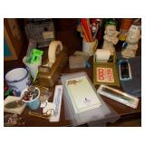 ASSORTED OFFICE SUPPLIES INCLUDING PAPER WEIGHT