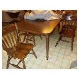 DINING TABLE WITH TWO LEAVES 30H 40W 87L (WITH