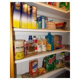 CLOSET OF CLEANING SUPPLIES INCLUDING DETERGENT,
