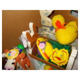 EASTER DECORATIONS! HAND MADE BUNNY AND CHICK,