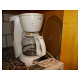 COFFEE POT, MATCHES, MICROWAVE TRAY.