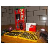 20 PIECE TWIST DRILL SET AND MISC. ITEMS TO FIX