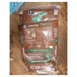 TWO BAGS OF BROWN MULCH