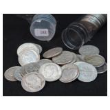 ROLL OF 50 SILVER ROOSEVELT DIMES
