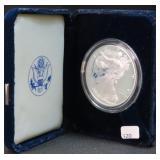 2001-W SILVER EAGLE WITH BOX AND COA