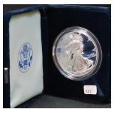 2001 SILVER EAGLE WITH BOX