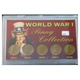 WWI PENNY COLLECTION 1914-1918