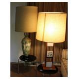 4PCS - PAIR OF END TABLES AND ART DECO LAMPS