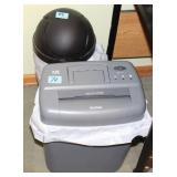2PCS - TRASH CAN AND PAPER SHREDDER