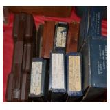 6 VINTAGE S&W BLUE BOXES, 3 VINTAGE WALTHER BOXES,