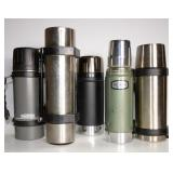 5 THERMOS TYPE BEVERAGE KEEPERS