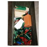 LARGE ARMY AMMO CAN WITH EMPTY SHOT SHELLS AND