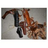 5 LEATHER GUN HOLSTERS AND SHOULD HOLSTERS