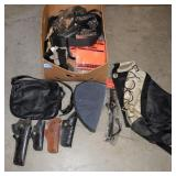 GROUPING: GUN CASE, PLASTIC ANTLERS, BLAZE ORANGE